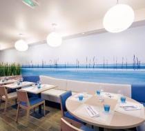 Mobilier banquette restaurant Arras amarine