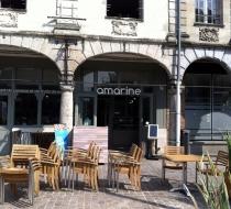 Chaise enpilable  teck terrasse restaurant amarine arras plaza mobilier