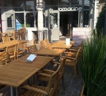 Chaise teck terrasse amarine arras plaza mobilier