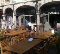 Plateau teck terrasse amarine arras plaza mobilier
