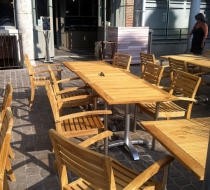 Table alu teck terrasse amarine arras plaza mobilier