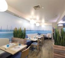 Mobilier table banquette restaurant Arras amarine