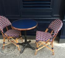 chaise table bistro paris plaza outdoor