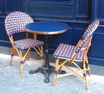 chaise rotin table bistro paris plaza outdoor