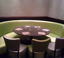 banquette ronde simili cuir