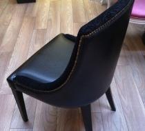 chaise napoleon velours gaufrage