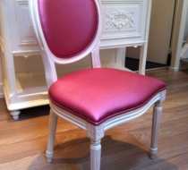 chaise medaillon louis 16 rose passepoil