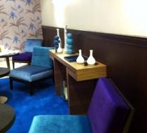 fauteuil velours hotel plaza mobilier