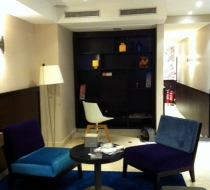 fauteuil contemporain velours hotel plaza mobilier