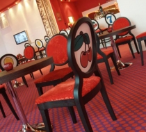 Chaise casino velours imprimés