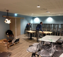 Montage table inox palza mobilier