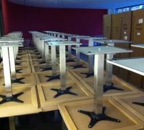 table plateau stratifié chêne blanchi