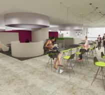 vue 3d projet cafétéria conception