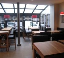 salle restaurant mobilier chene