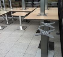 pieds aluminium colonne centrale finition inox