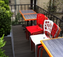 plateau de table stratifié terrasse